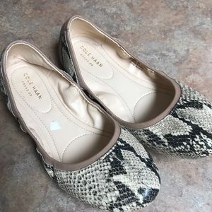 Cole Haan Snake printed flats